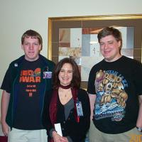 Left to Right: Me, Lia Sargent (Voice Actor) Mikel Tidwell (Friend of mine)