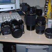 My KS500 and my 80~200mm, 135mm, and doubler