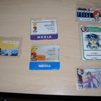 Assorted convention badges I've gotten so far.  I need to go to more conventions...