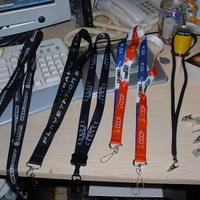 Lanyards to go with some of the badges I've gotten.
